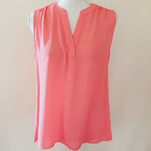 Chaus coral sleeveless blouse size small